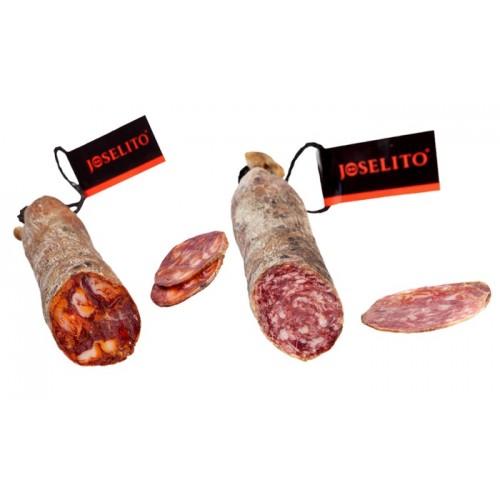 Joselito Ibéricos de Bellota Chorizo y Salchichón 2 Medias Barras