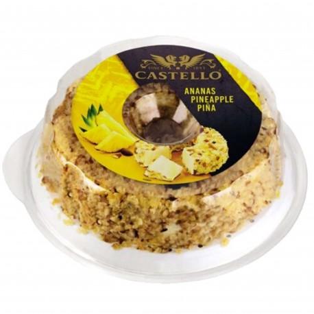 Queso Crema con Piña y Almendras Castello
